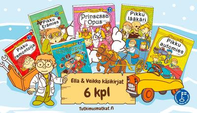 Ella ja Veikko Tutkimusmatkat kirjapaketti