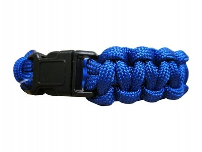 Paracord-ranneke, sininen