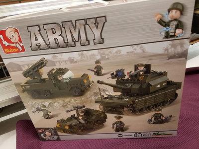 Sluban Army - Tankki, raketinheitin ja sotilaspartio