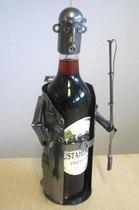 Kalastaja viinipulloteline