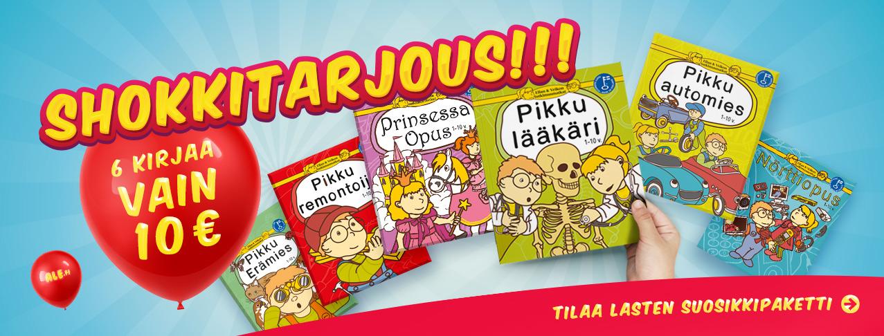 Lastenkirjat Ale.fi verkkokaupasta